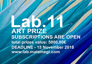 ART CONTEST - Malamegi Lab.11- Art Prize 2019